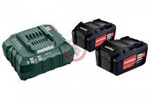 Basic akkumlátor szett 2x4,0Ah 18V akku+töltő