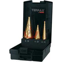 Terrax A101126TRO Lépcsősfúró klt 3r TiN bevonatos, 4 - 30mm