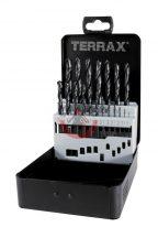 Terrax A205210 Fémcsigafúró készlet HSS-R 1-10 mm 19 részes