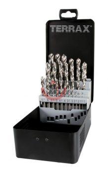 HSS-G fémcsigafúró klt. 25 részes  DIN 338 TRX