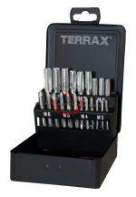 Terrax A245006 Menetfúró klt M3-M12   21 részes