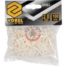TOYA 04583 Fugakereszt fogóval 2 mm 100 db/csomag