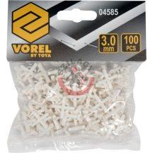 TOYA 04585 Fugakereszt fogóval 3 mm 100 db/csomag