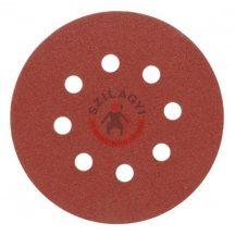 TOYA 08580 Csiszolókorong tépőzáras  lyukas 125mm  P100 /5db