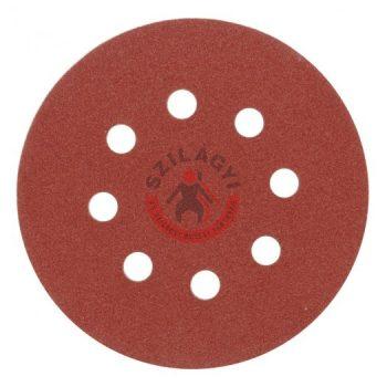 TOYA 08582 Csiszolókorong tépőzáras  lyukas 125mm  P120 /5db