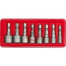 """Behajtó készlet hatlapfejü csavarhoz 1/4"""" 8 részes 5-13 mm"""