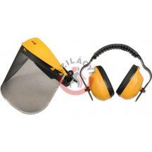 TOYA 74462 Homlokpánt rostélyos arcvédővel + fülvédő