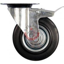 TOYA 87323 Kerék csapágyazott forgózsámolyos fékes 125mm