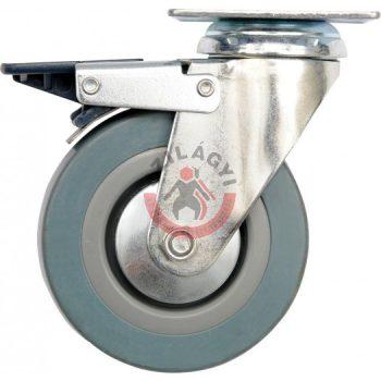 TOYA 87384 Kerék csapágyazott forgó zsámolyos fékes 125mm