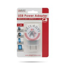 Delight Adapter 5V - 1.2Ah - 1 USB - fehér