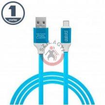 Adatkábel Micro USB Szilikon Bevonat 1m