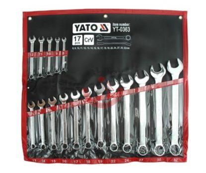 YATO 0363 Csillag villás kulcs készlet 17 részes