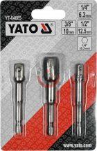 """YATO 04685 Átalakító 1/4"""" hatlap-ról ------> 1/4"""", 3/8"""", 1/2"""""""