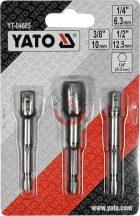 """YATO 04685 Átalakító 1/4"""" hatlap-ról 1/4"""", 3/8"""", 1/2"""""""