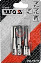 """YATO 04686 Átalakító SDS Plus-ról ------> 1/4"""", 3/8"""", 1/2"""""""