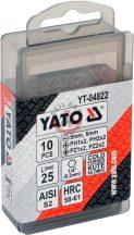 YATO 04822 Bitkészlet vegyes 25mm 10részes
