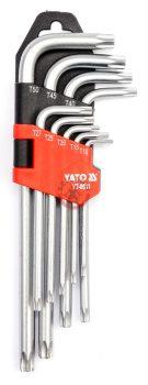 Torxkulcs készlet 9 részes T10-T50 biztonsági