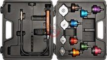 YATO 0672 Univerzális Autóhűtő Nyomásmérő Készlet 14db-os