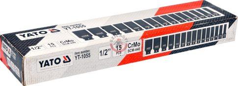 YATO 1055 Levegős dugófej készlet 15 részes hosszított