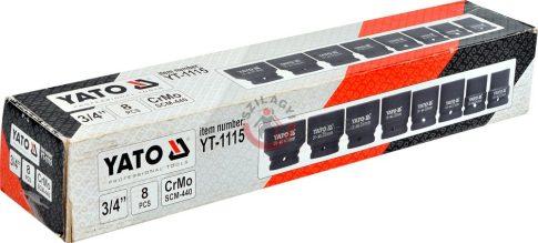 YATO 1115 Levegős dugófej készlet 8 részes
