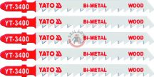 YATO 3400 Szúrófűrész lap Bi-Metal Fa 100/75