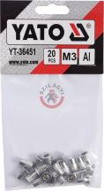 Aluminimum szegecsanya M3 20db/cs