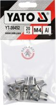 Aluminimum szegecsanya M4 20db/cs