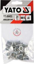 Aluminimum szegecsanya M5 20db/cs