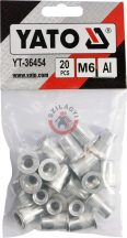 Aluminimum szegecsanya M6 20db/cs