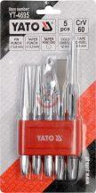 YATO 4695 Véső-lyukasztó készlet 5 részes