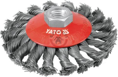 YATO 4763 Csavart tányérkefe 100mm M14