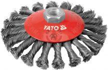 YATO 4764 Csavart tányérkefe 125mm M14