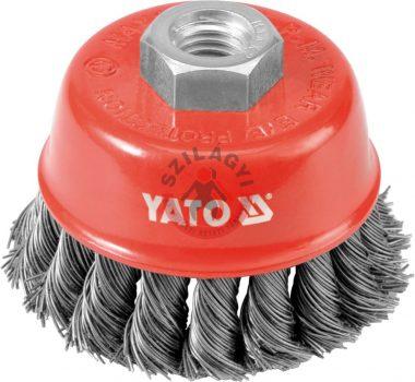 YATO 4767 Csavart fazékkefe 60mm M14
