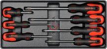 YATO 5536 Kereszt csavarhúzók / Fiókbetét 7db