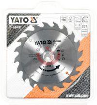 YATO 60488 Körfűrésztárcsa fához 190 x 30 mm T20