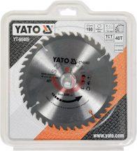 YATO 60489 Körfűrésztárcsa fához 190 x 30 mm T40