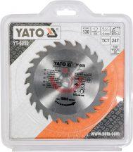 YATO 6050 Körfűrésztárcsa fára 130x16 Z24