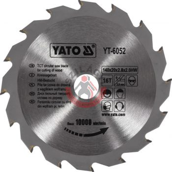 YATO 6052 Körfűrész lap vídiás 140x16x20