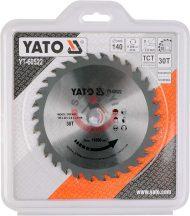 YATO 60522 Körfűrésztárcsa fához 140 x 20 mm T 30