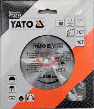 YATO 6055 Körfűrész lap vídiás 160x18x20
