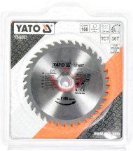 YATO 6057 Körfűrésztárcsa fához 160 x 30 mm T36