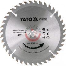 YATO 60583 Körfűrésztárcsa fára 170x16 Z40