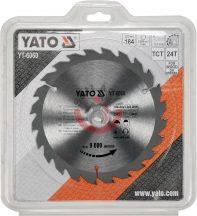 YATO 6060 Körfűrésztárcsa fához 184 x 30 mm T24