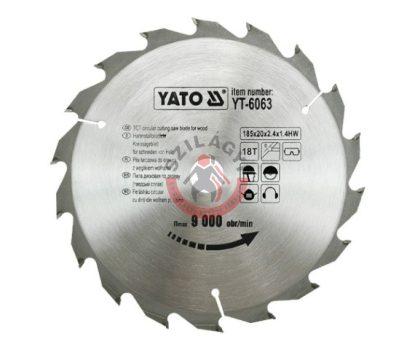 YATO 6063 Körfűrész lap vídiás 185x18x20