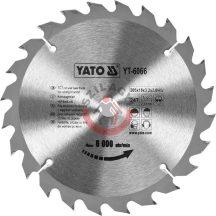 YATO 6066 Körfűrésztárcsa  205X18X24mm T24