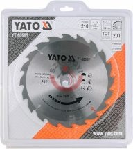 YATO 60665 Körfűrésztárcsa fához 210x30x3,2mm T20