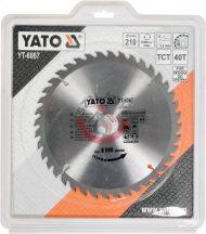 YATO 6067 Körfűrész lap vídiás 210x40x30
