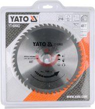 YATO 60682 Körfűrésztárcsa fához 216 x 30 mm T48