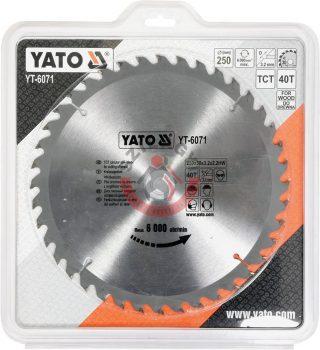 YATO 6071 Körfűrész lap vídiás 250x40x30