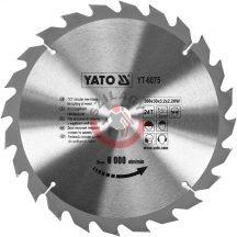 YATO 6075 Körfűrésztárcsa fához 300 x 30 mm T24